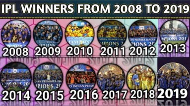 IPL Winners List From 2008 To 2019 | IPL All Winners From 2008 to 2019 | Updated List