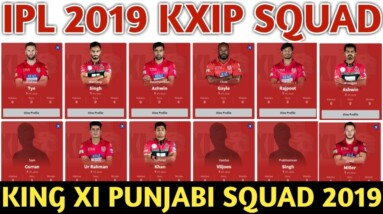 IPL 2019 Kings Xi Punjab Team Squad | KXIP Confirmed and Final Squad For IPL 2019  KXIP Players List