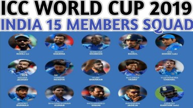 ICC World Cup 2019 India Team Squad Confirmed | Virat Kohli Selected 15 Players For World Cup 2019