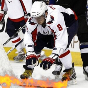 I was in net for...Alex Ovechkin's hot-stick celebration