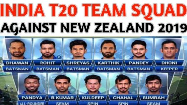 BCCI Announced 15 Members T20 Team Squad Against New Zealand 2019 | India Tour Of New Zealand 2019
